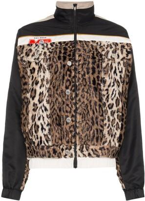 Martine Rose Hybrid Leopard Print Insert Track Jacket