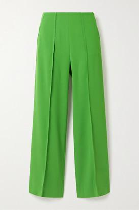 Kenzo Cropped Crepe Straight-leg Pants - Green