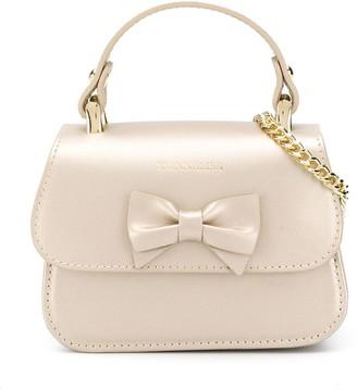 MonnaLisa Bow Detail Chain Link Shoulder Bag