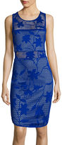 Bisou Bisou Sleeveless Perforated Bodycon Dress