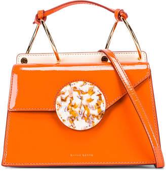 Danse Lente Patent Phoebe Bis Bag in Tangerine | FWRD