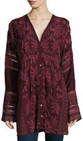 Johnny Was Cam Long-Sleeve Embroidered Tunic, Plus Size