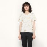 Maje T-shirt with golden embroidery