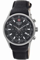 Swiss Military 06-4156.04.007 44mm Stainless Steel Case Calfskin Mineral Men's Watch