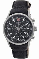 Swiss Military Men's 44mm Chronograph Calfskin Quartz Watch 06-4156.04.007