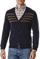 Haggar V Neck Long Sleeve Knit Cardigan