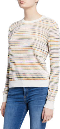 Joie Ade Striped Linen Pullover Sweater
