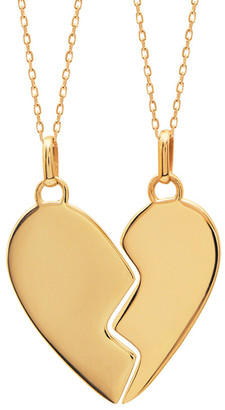 GABIRIELLE JEWELRY Gold Over Silver Necklace Set