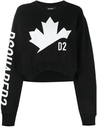 DSQUARED2 D2 Leaf asymmetric sweatshirt