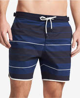 Tommy Hilfiger Men's Russo Stretch Stripe Swim Trunks, Created for Macy's