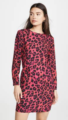 Moschino Long Sleeve Pink Leopard Dress