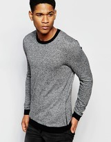 Asos Cotton Sweater with Side Zip Pockets