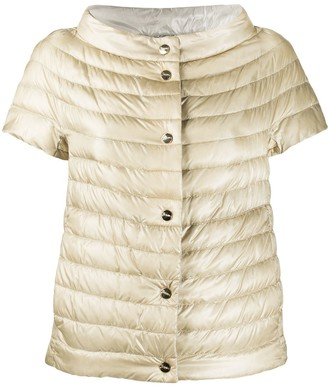 Herno Short-Sleeved Quilted Down Jacket