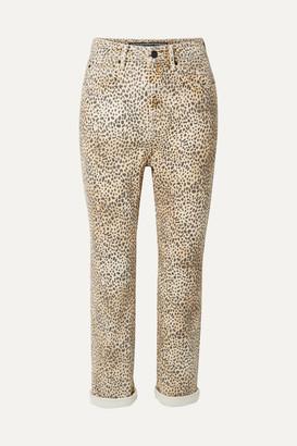 Alexander Wang Cult Leopard-print High-rise Straight-leg Jeans - Leopard print