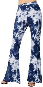 Derek Heart Juniors' Tie-Dyed Flared Leggings
