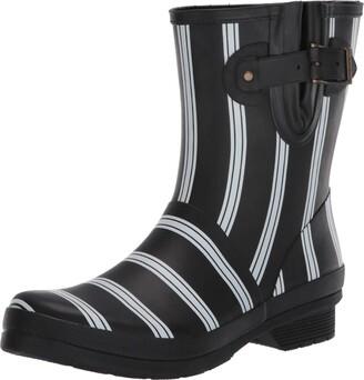 Chooka womens Mid-height Printed Rain With Memory Foam Mid Calf Boot