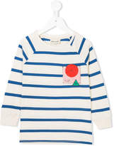 Bobo Choses striped badge-detail top