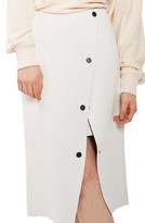 Topshop Women's Snap Midi Skirt