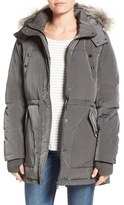 Sam Edelman Women's Water Resistant Faux Fur Trim Parka