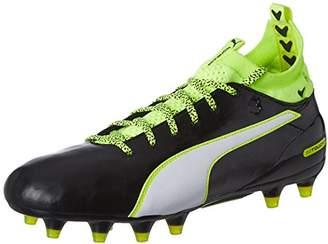 Puma Men's Evotouch 1 FG Football Boots, Black-White-Safety Yellow 01, UK