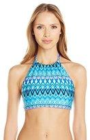 Kenneth Cole Reaction Women's Beyond The Sea Reversible Hi Neck Bikini Top