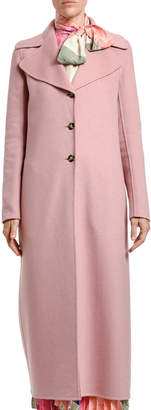 Valentino Double Cashmere Wool Twill Coat