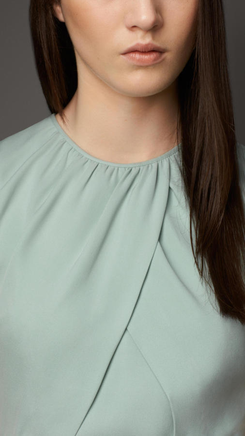 Burberry Twist Front Silk Dress