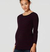 LOFT Maternity Stripe Ribbed Sweater