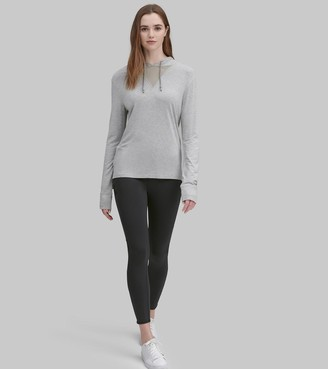 Mny Performance Long Sleeve Hooded Tee With Mesh Inset