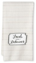 Threshold Fresh & Delicious Printed Flour Sack Kitchen Towel Tan