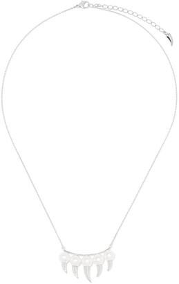 Tasaki 18kt white gold diamond Danger Fang necklace
