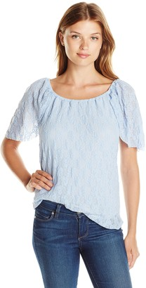 Only Hearts Women's Stretch Lace Off Shoulder Top W Liner