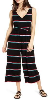 BP Wrap Waist Crop Wide Leg Jumpsuit