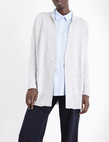 Allude Open-front wool and cashmere-blend cardigan