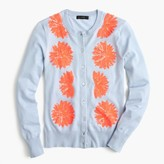 J.Crew Embellished cotton Jackie cardigan sweater