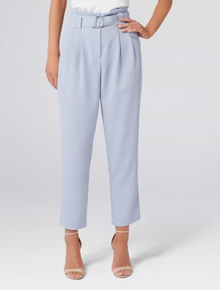 Forever New Jessabelle Tie Waist Pants - Swift Sea - 16