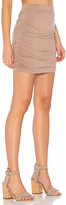 Bobi Modal Jersey Mini Skirt in Brown. - size M (also in S,XS)