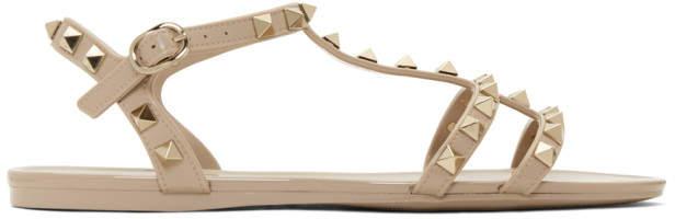 Valentino Pink Garavani Rockstud Summer Cage Sandals