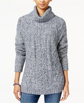 Tommy Hilfiger Cable-Knit Turtleneck Sweater, Only at Macy's