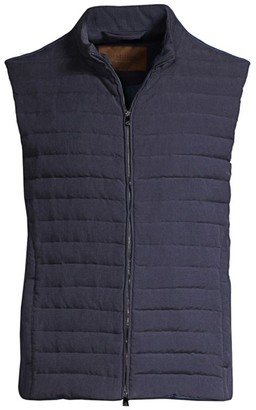 Corneliani Quilted Down-Filled Vest