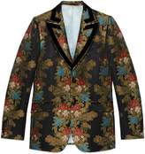 Gucci Heritage climbing flowers jacquard jacket