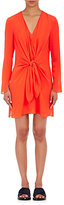 3.1 Phillip Lim Women's Knotted Silk Georgette Dress-RED, BERRY