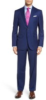 David Donahue Men's Ryan Classic Fit Stripe Wool Suit