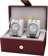 Akribos XXIV Unisex Silver Tone Watch Boxed Set-A-888ss