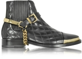 Balmain Diva Black Quilted Leather Boot