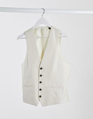 Rudie linen slim fit suit waistcoat