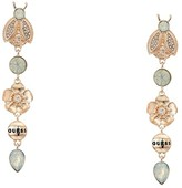 GUESS Bug and Flower Linear Earrings (Rose Gold) Earring