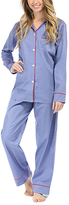 Malabar Bay Denim & Red Sateen Organic Cotton Pajama Set