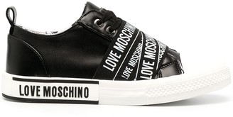Love Moschino Logo-Tape Low-Top Sneakers