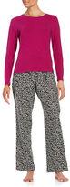 Calvin Klein Long Sleeve Tee and Pajama Pants Set
